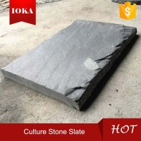 Black Precious Culture Stone Slate For Outdoor