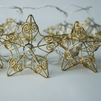 Iron Wrought Decoration Led String Star Lantern Pattern