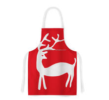 Reindeer red holiday artistic apron kitchen wear
