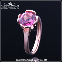 Perfect Jewelry Factory Wholesale 925 Sterling Silver Jewelry Women One Stone Ring Designs