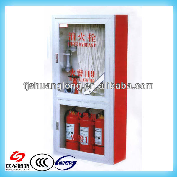 stainless steel glass frame fire protection cabinets for fire fighting