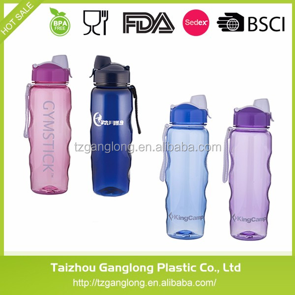 Wholesale Customized Logo Plastic recycled sport water bottle