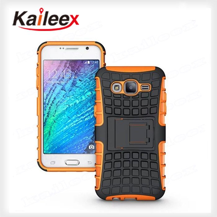 2015 Hybrid Heavy Duty Silicon+PC Rugged Armor Case For Samsung Galaxy J5 Case