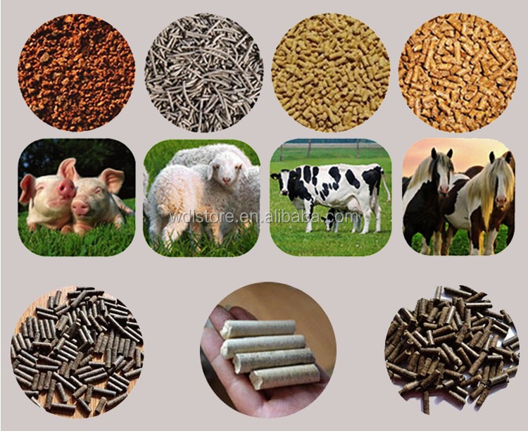 China cheap animal feed pellet machine mill