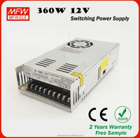 factory direct sale 12v 30a 360w led switching power supply with 2 years warranty