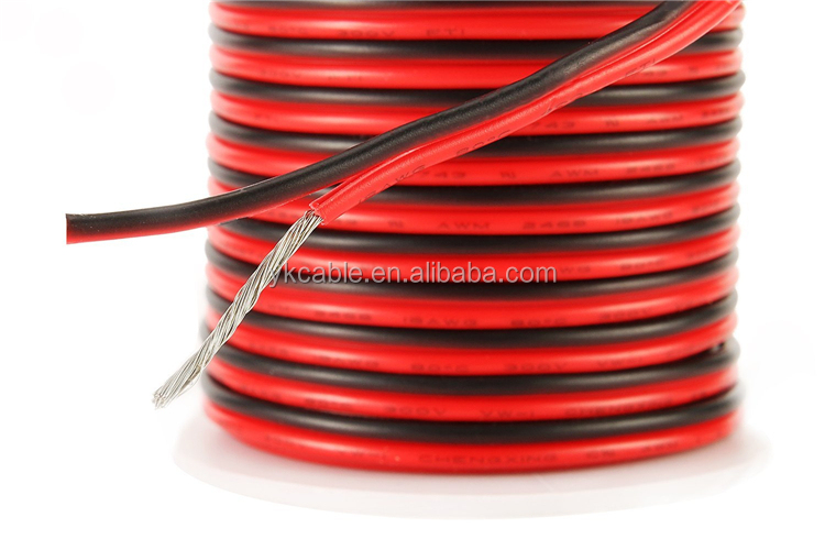 Hookup 2core 2 core awg 22 24 red black Silicone Wire LED Strip Extension custom Silicone Cable