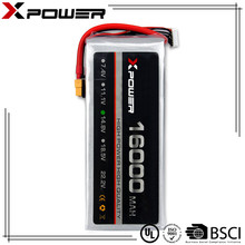 Xpower customized industry rechargeable lithium polymer lipo battery 14.8V 16000mAh 20C for electric vehicles