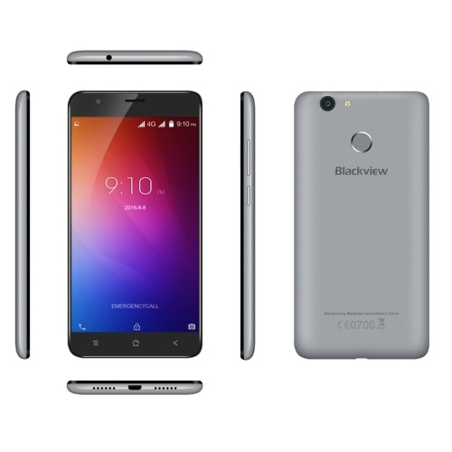Newest Blackview E7 16GB, Network: 4G,5.5 inch Android 6.0 MTK6737 Quad Core 1.3GHz, RAM: 1GB, Support GPS, Dual SIM(Grey)