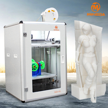 High precision top sale MINGDA largest size 300 * 400 * 500 mm 3d printer with TPU filament for shoe , printer 3d for sale