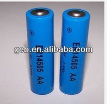 ER14505 AA 3.6V 2400mAh Lithium Thionyl Chloride Li-SOCL2 battery for Electricity, gas and flow instrumentation and other produc