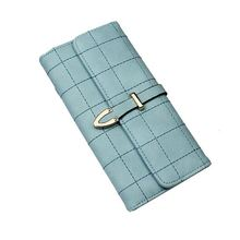 Wholesale prices pu leather woman 12 slots money clip coin trifold wallet