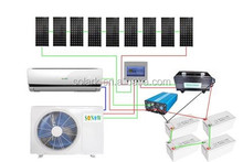New clean and popular solar air conditioner with 48V DC inverter 18000BTU air conditioning units