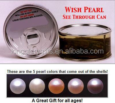 canned Genuine oyster pearl-wish pearl in Can
