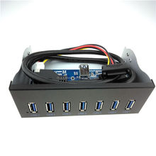 5.25 USB3.0 7Port Front Panel USB Hub With 15Pin SATA Power Connector