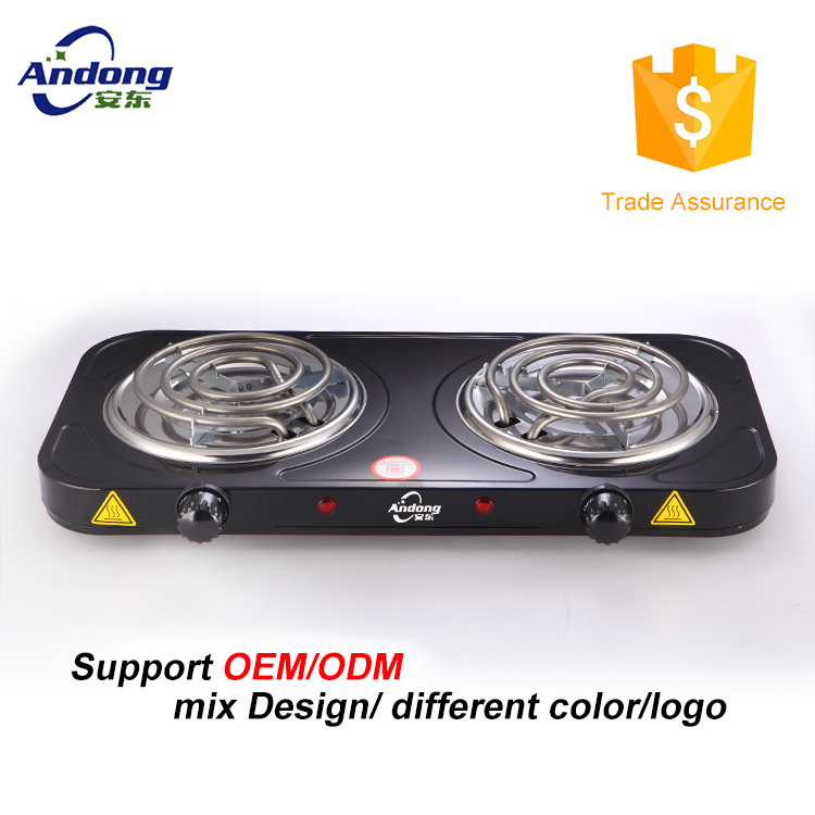double electric hot plate stove 230v 2000w with CE