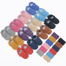Genuine Leather Newborn Baby Infant Toddler First Walkers Prewalker Suede Shoes Baby Leather Moccasins