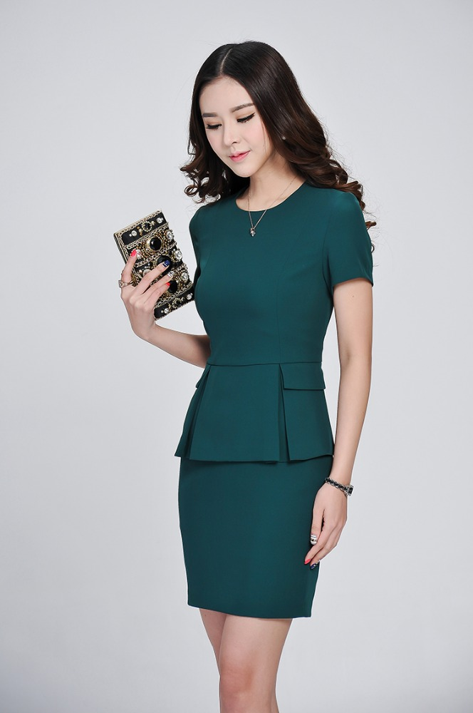 anti-wrinkle wholesale polyester/rayon manufacture women short sleeve church suits