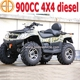 New V-Twin Cylinder 4x4 900cc Diesel Atv