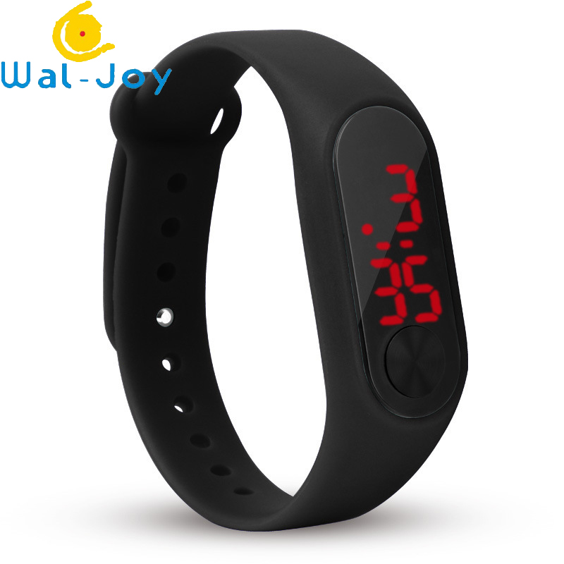 WJ-6717 Cheapest Colorful Strap Stylish Digital Led Wrist Watch