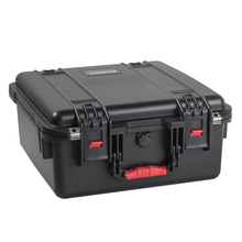 plastic equipment case with handle and wheels