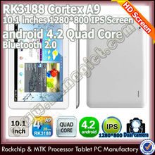 "10.1"" IPS quad core rk3188 android tablet bluetooth software usb"