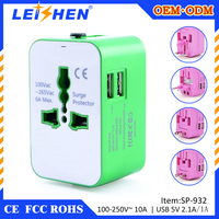 Perfect design 2 multi port 5v 2.1a usb travel adapter for UK EU AU US