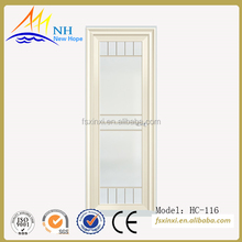 American style swing aluminium glass doors for toilet