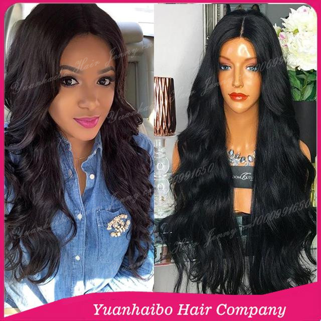 "2016 New Selling! 10""-32"" #1b virgin mongolian hair wavy style high ponytail full lace wig"