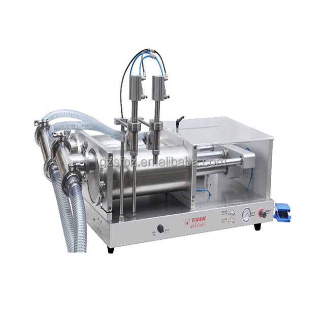 Semi Auto Curry Paste Filling Machine With Two Nozzles Paste Filling Machinery Paste Fller