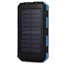 Wholesale Waterproof Portable Solar Power Bank Quality 8000mAh SOS for Cell Phone
