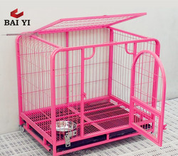 Double Lightweight Dog Crate & Welded Wire Dog Soft Crate / XXL Pink Dog Crate For Sale