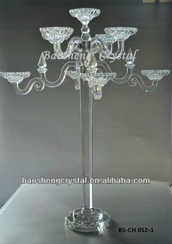 Tall 9 Arms Wedding Crystal Candelabra Centerpieces Wholesale (BS-CH052)