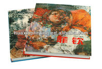 color book printing/hardcover book supplier/unique book binding