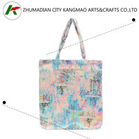 large screen printing ladies eco friendly recycled cotton tote bag