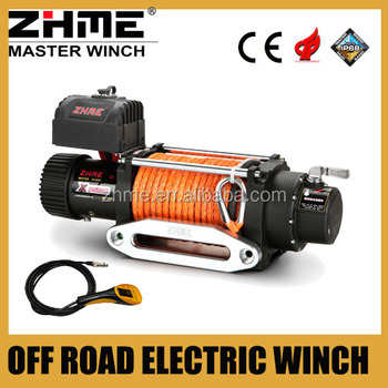 8288lbs off road 4x4 rc fast line speed electric winch with high performance motor