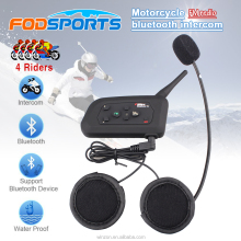 4 Riders full duplex bt interphone motorcycle helmet bluetooth intercom headset