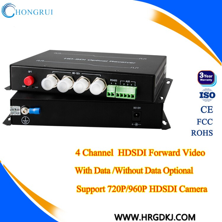 1080P Forward/ Reverse Audio 4 channel SDI converter with rs485