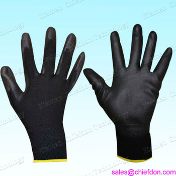 13g black Pu work glove/safty glove