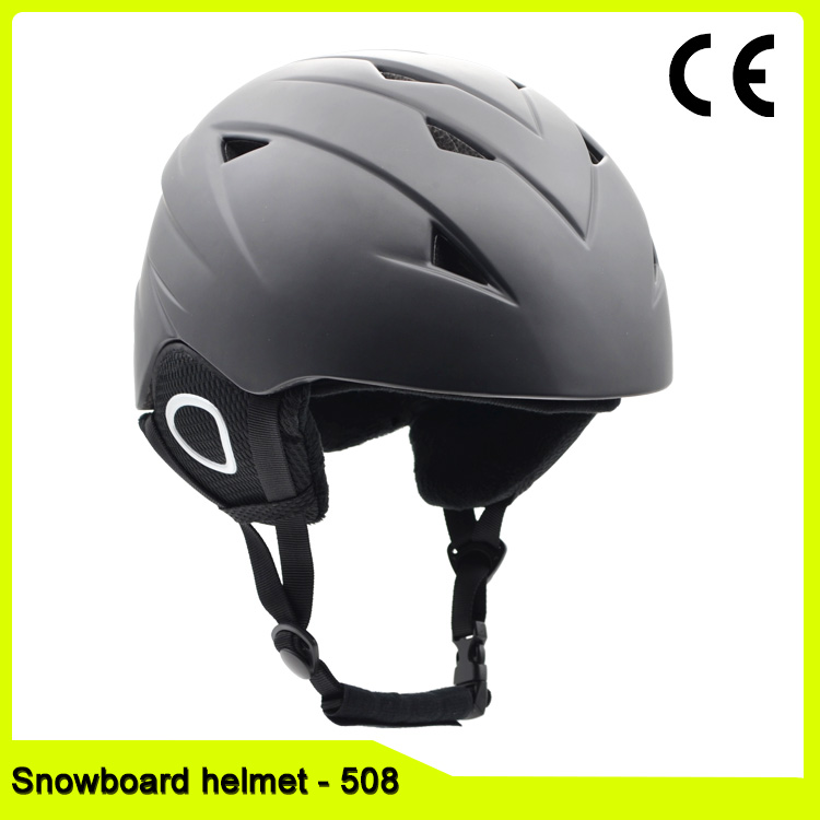 Colorful PC+EPS In-mold Lightweight race Skiing Snowboard Helmet for adult and kids with chin strap