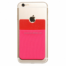 High quality sticky microfiber card holder for mobile phone