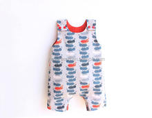 2017 New design Wholesale ant print new baby clothes longall Cotton Romper