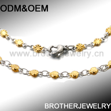 wholesale Popular Stainless Steel Womans Indian Gold Chain Designs