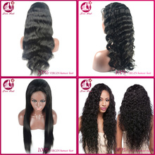 8A Natural Virgin brazilian hair lace front wig 100% human hair full lace wig with baby hair