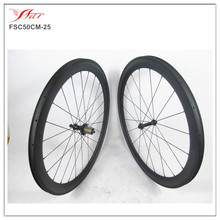 FSC50-CM-25 Chinese OEM factory original Toray T700 carbon fiber road bike 50mm clincher wheels