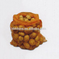 yellow knitted biodegradable mesh roll net mesh bag for potatoes