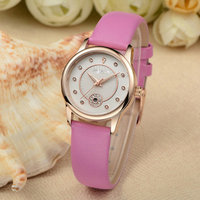 Fashion fresh girls watch wrist quartz watches genuine leather band