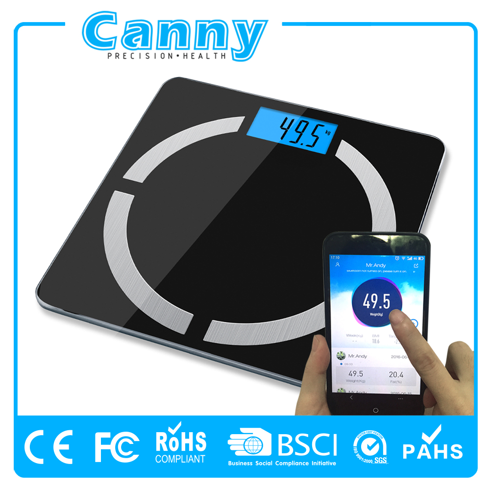 Bluetooth smart body fat scale New design Body Fat Weighing Machine with APP