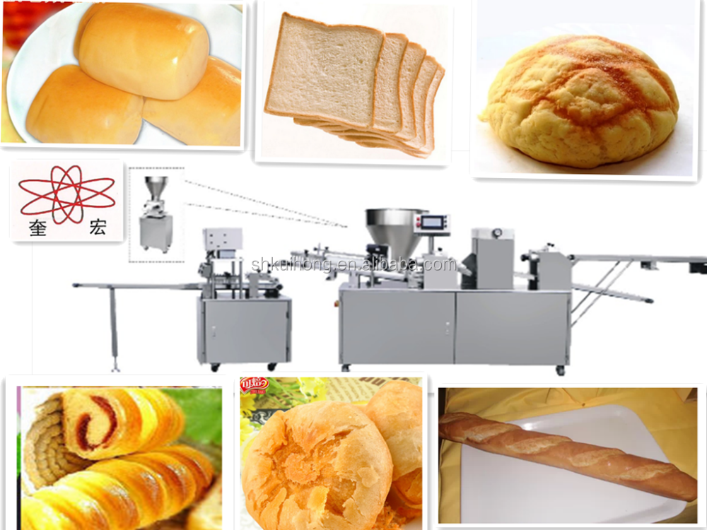 bread bun production line /long bread making machine