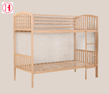 fancy bed design wood grain metal frame bunk bed for hotel