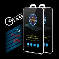 2016 New Arrival 9H 0.3mm 2.5D Premium Tempered Glass Screen Protector Film for iPhone 5 5s